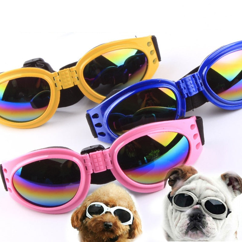Dog Sunglasses  Pet Eyewea Can Be Folded Against Wind And UV Protection - honeylives