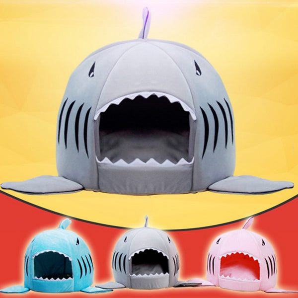 Dozzlor Shark Cat House Bedding Basket Sleeping Lounger 3 colors - honeylives