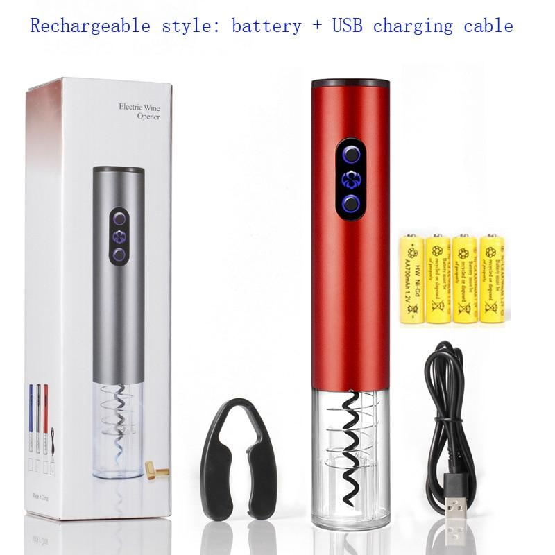 Kitchen Electric Wine Opener Automatic Portable Bottle Corkscrew Cook
