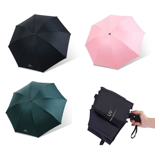 Rain Dual-Use Sun Umbrella Outdoor Folding Sunscreen UV Umbrella - honeylives