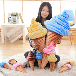 Funny Sweet Ice Cream Pillow 30cm 4 Patterns Sofa  Plush  Soft Doll - honeylives