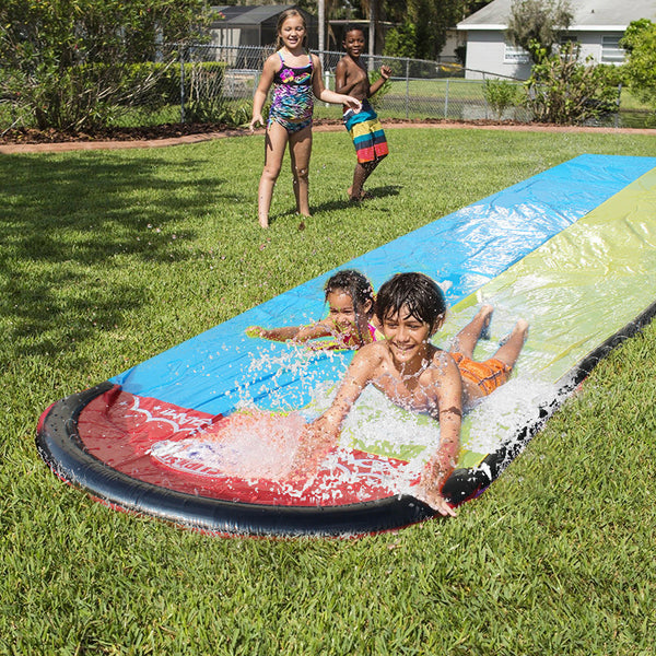 Giant Splash Sprint Water Slide Fun Lawn Water Slides Pools for Kids Summer Games Outdoor Toys - honeylives