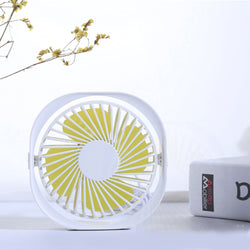 New Portable Desktop Mini Cooling Fan USB Rechargeable 3 Speed Adjustable Air Fan - honeylives