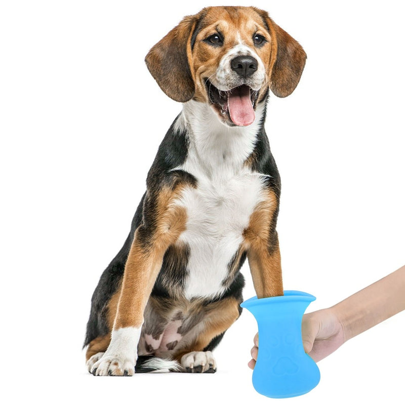 Dog Paw Cleaner Cup Pet Foot Washer Dog Cleaning Brush Claws Massage Grooming - honeylives