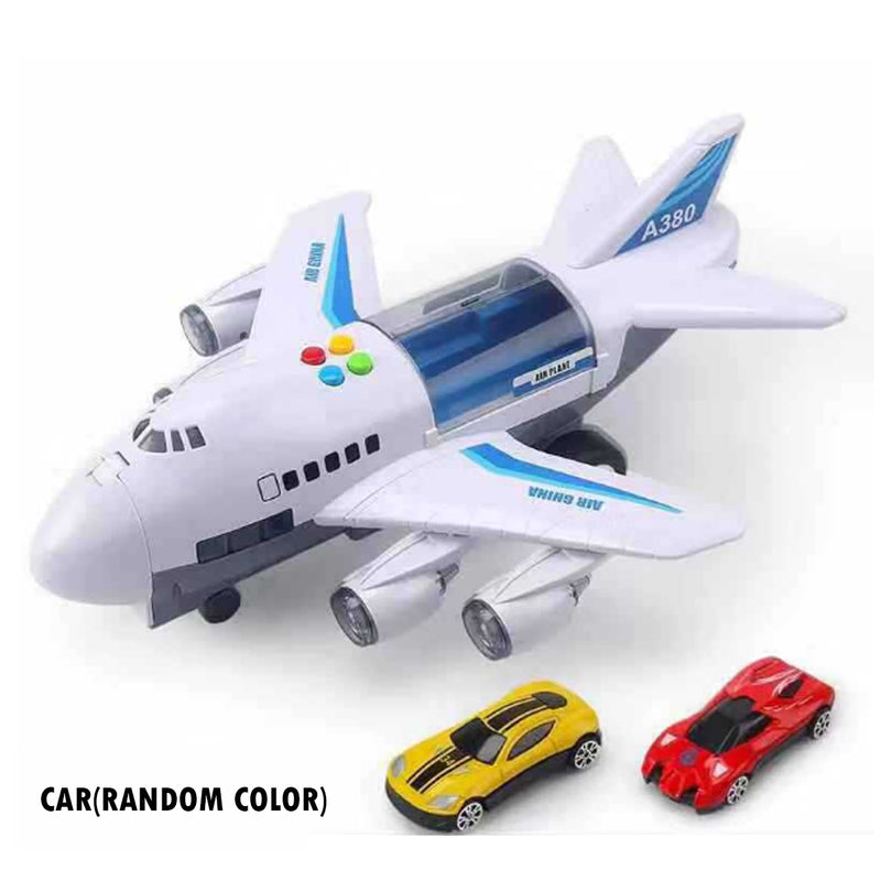 Kids Toy Music Story Simulation Track Inertia Aircraft Storage Passenger Plane PloiceFire Rescue - honeylives