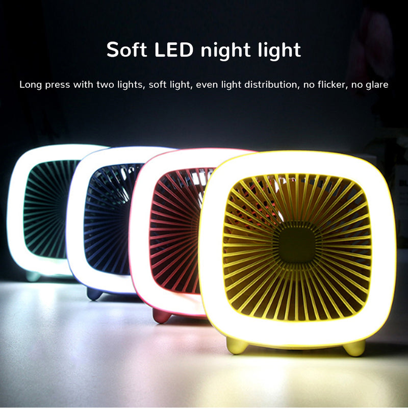Led Loop Fan Portable With Hook Hanging USB Rechargeable 3 Speed Adjustable Cool Wind - honeylives