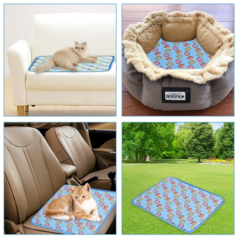 Large Dog Sleep Mat Cat Beds Cooling Blanket for Wash Kennel - honeylives