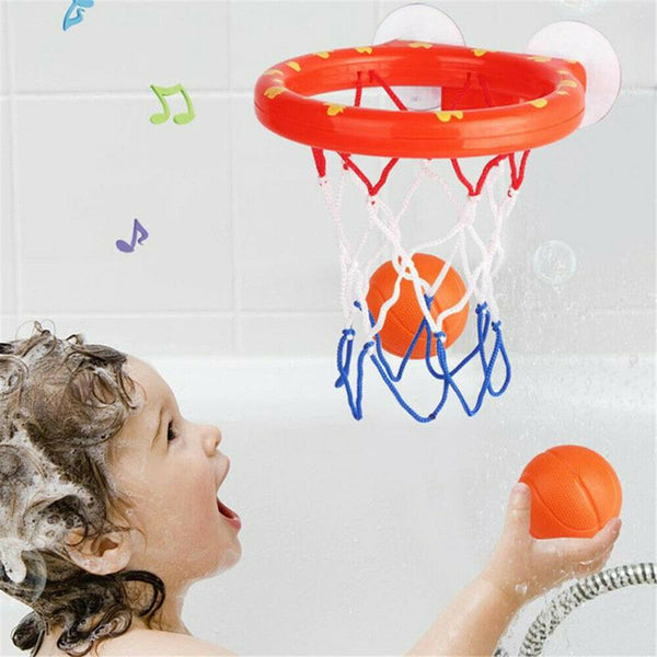 Kids Basketball Hoop Bathtub Water Play Set Mini Foam Beach  Pool Toddler Bath Toys - honeylives