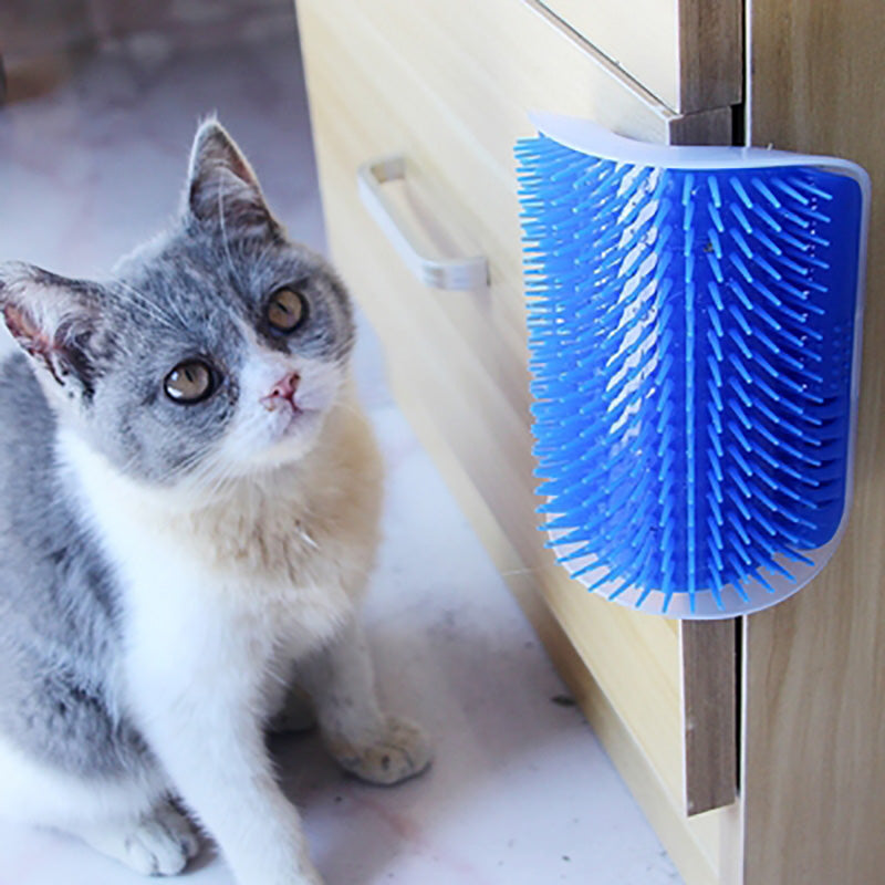 Pet Cat Self Groomer For Cat Grooming Tool Hair Removal Shedding Trimming Massage Device - honeylives