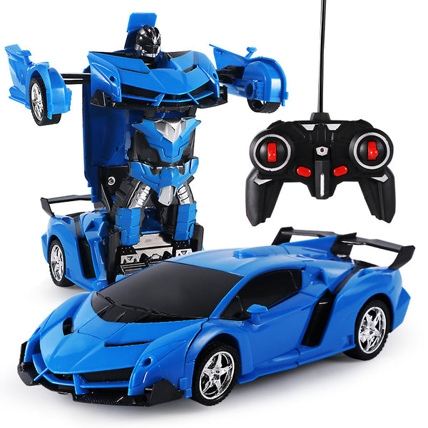 RC Transformer 2 In 1 RC Car Driving Sports Cars Drive Robots Models Remote Control Car Fighting Toy Gift - honeylives