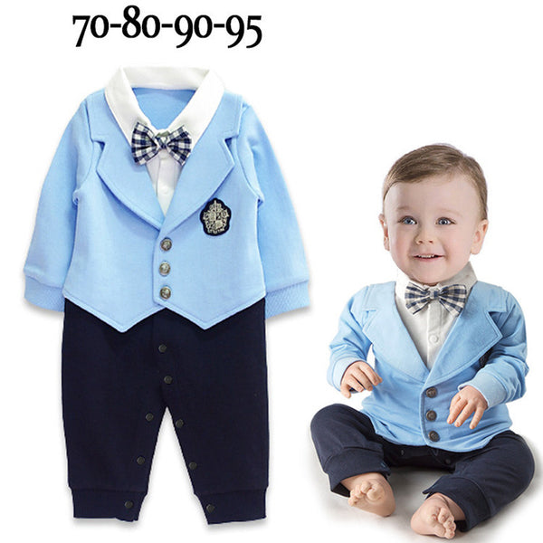 Kid Baby Boy Gentleman Romper Jumpsuit Bodysuit Party Suit Clothes Outfit 0-24M - honeylives