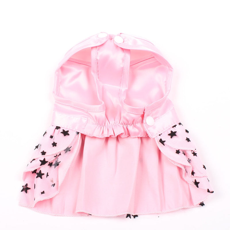 Small Dog Cat  Shirt Bow&StarsPuppy Skirt Spring Summer Apparel 4 Colours - honeylives