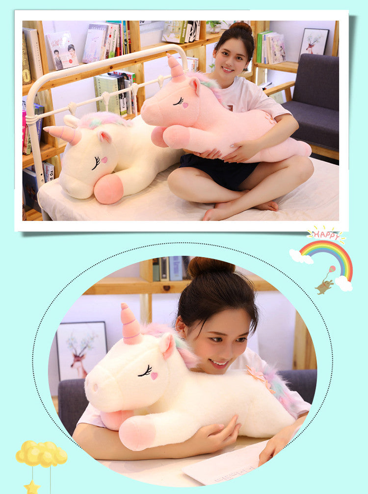 Lovely Unicorn Plush Toys Stuffed Animal Horse Peluche Doll Gift for Kids - honeylives