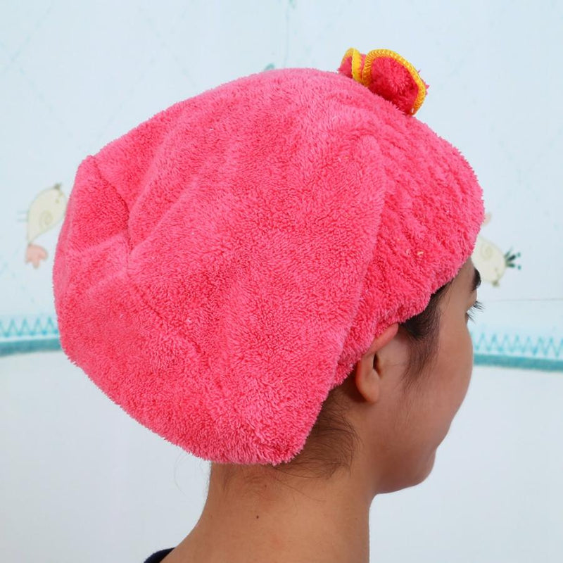 Hair Dry CapTowel Bathroom Ultra Absorbent Hair Dry Wrap Cap Fast Drier Hat Shower - honeylives