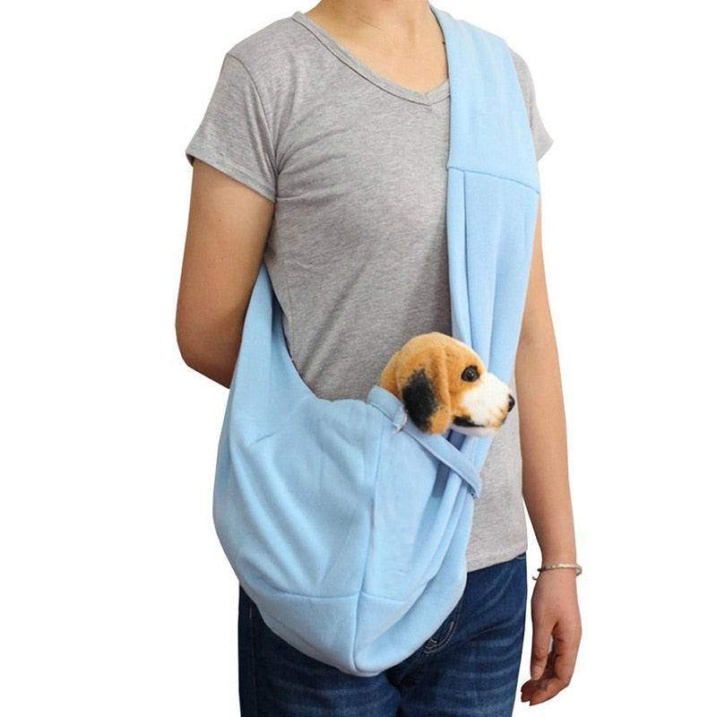 Hands-free Reversible Small Dog Cat Carrier Pet Bag Soft Double-sided Carry Handbag - honeylives