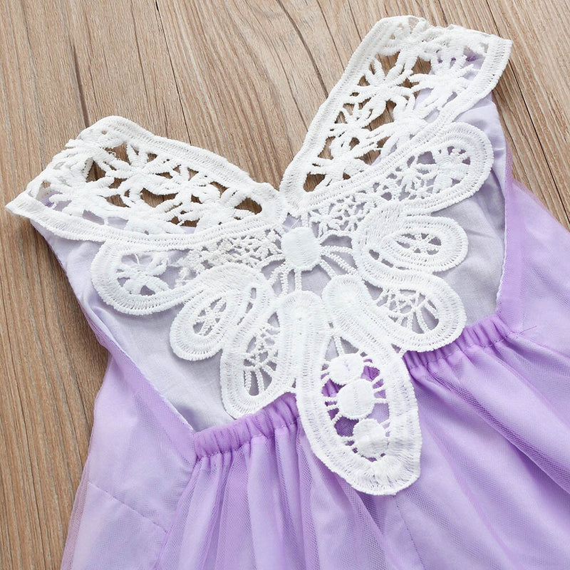 Baby Girls Dress Flower  Princess Party Pageant Pearl Lace Tulle Tutu Dresses - honeylives