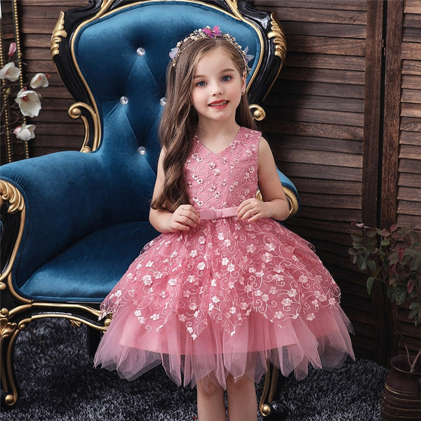 Summer Baby Girl Dress Lace Embroidery Baptism Dresses 0-10 Year - honeylives