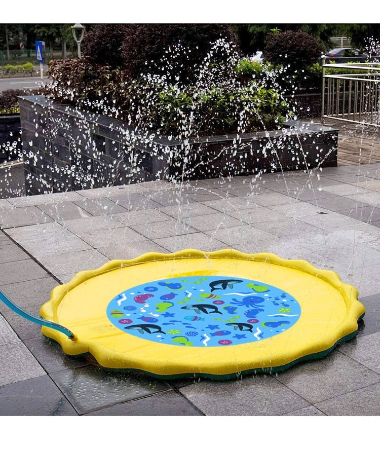 1Pcs Garden Lawn Water Spray Game Mat  Spray Pool Parent-child Toys Outdoor Games - honeylives
