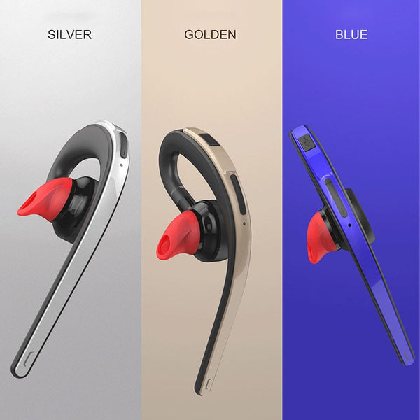 Wireless Bluetooth Earphone Headsets Mic Voice Control Music Earbud - honeylives