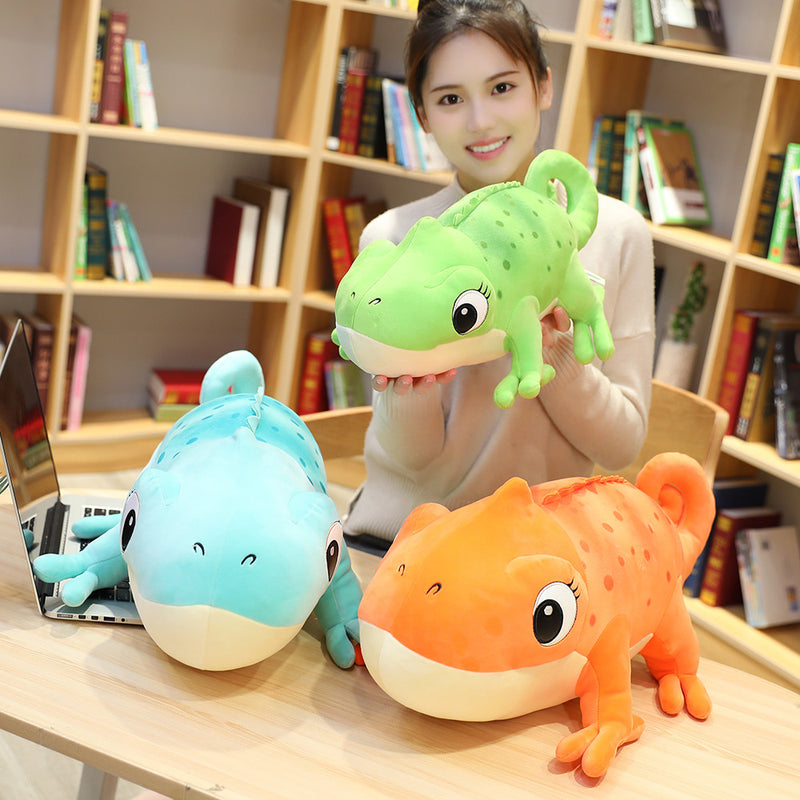 Simulation Chamelon Plush Toys for Kids Stuffed Cartoon Lovely Dinosaur Doll - honeylives