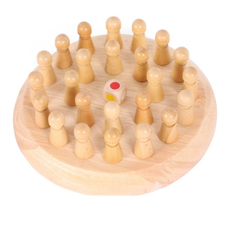 Kids Wooden Chess Game Memory Matching Game Education Cognitive Ability - honeylives
