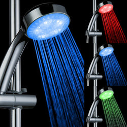 LED Colorful Automatic Changing Rainfall Shower Head  Waterfall Shower Bathroom Shower - honeylives