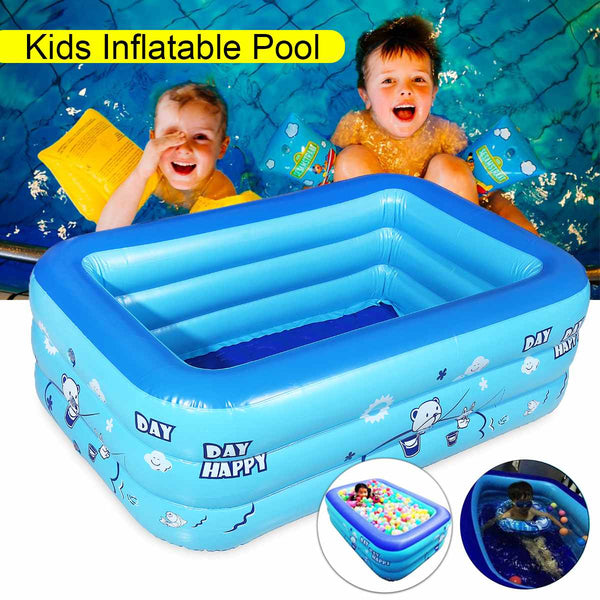 Kids Large Inflatable Outdoor Paddling Bathtub Water Swimming Bath Pool - honeylives