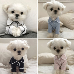 Pet Dog Fashion Luxury Pajamas for Small Medium Coat Jacket - honeylives