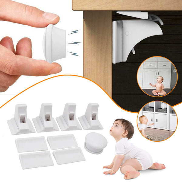 Magnetic Lock Protectio Baby Safety Cabinet  Drawer Door Security Invisible Locks - honeylives