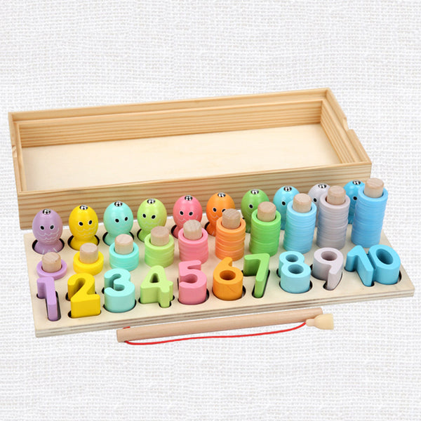 Kids Toys Montessori Educational Wooden Matching Count Magnetic Early Educational Toys - honeylives