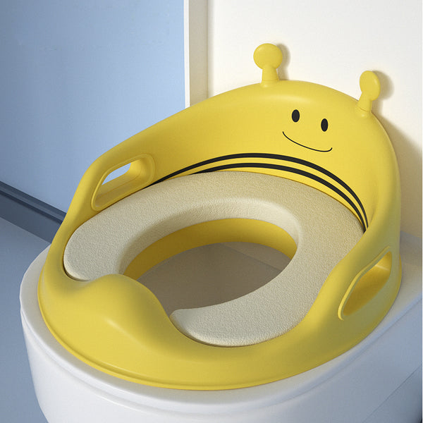 Cute Bee Baby Toilet Seat With Armrests Comfortable Potty Children Kids Potty Seat - honeylives