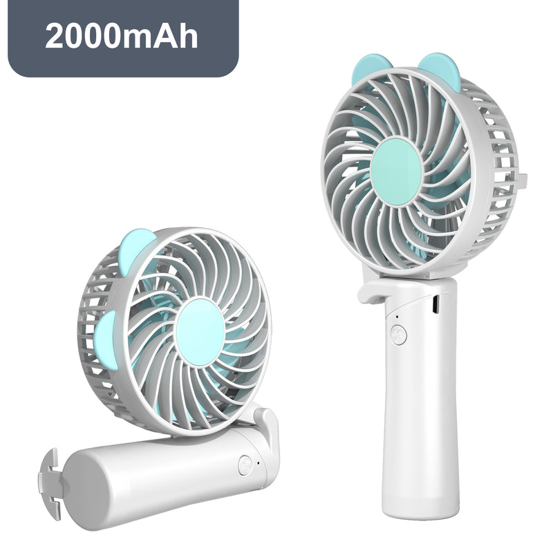 Cute Cartoon Mini Handheld USB Rechargeable Cooler Fan - honeylives