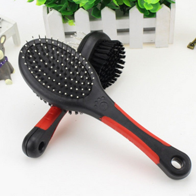 Pet Grooming Tool Dog Cat Comb  2 Faces Brush  Puppy Grooming - honeylives