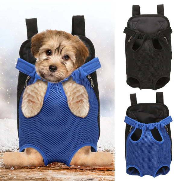 Pet Dog Backpack Protable Foldable Carrier Bag with Mesh Ventilation - honeylives