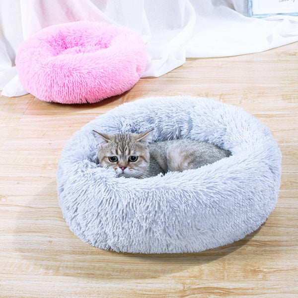 Pet Bed Nest Washable Kennel Dog Cat Warm Comfortable House Round Bed - honeylives
