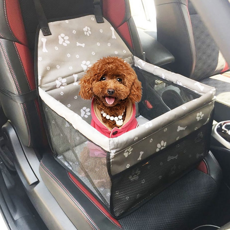 Pet Dog Car Carrier Seat Basket Safe Carry Travel Mesh Hanging Seat Cover - honeylives