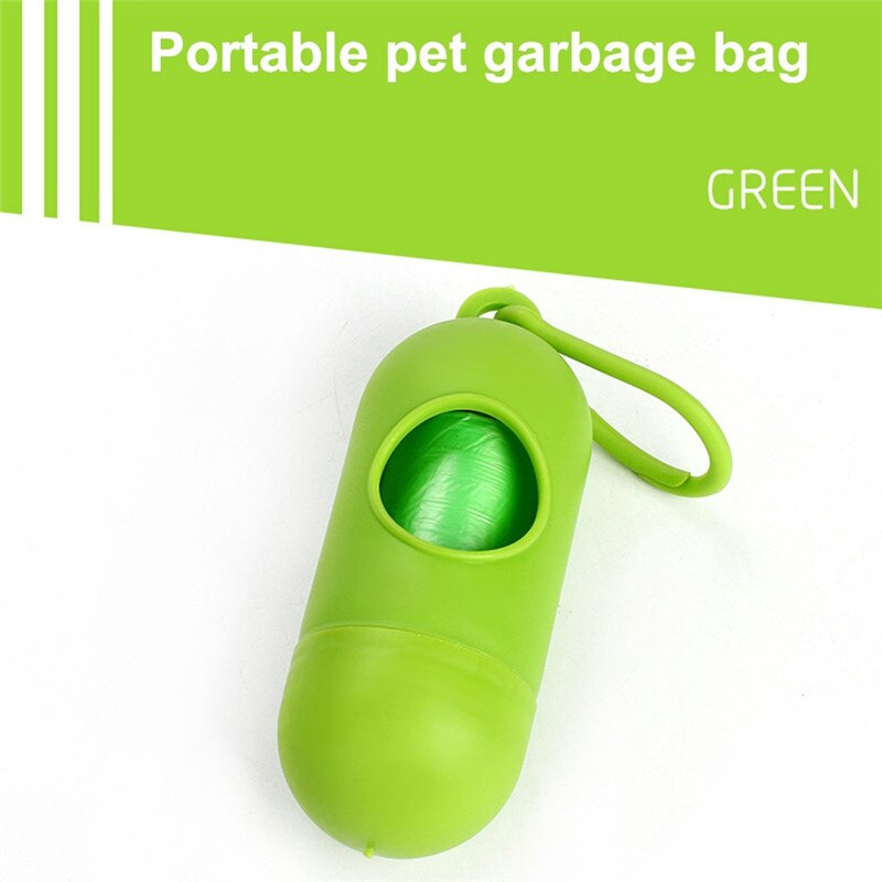 Pet Supply Practical Poop Pouchs Waste Holder Dispenser Pet Dogs Trash Cleaning Supplies - honeylives