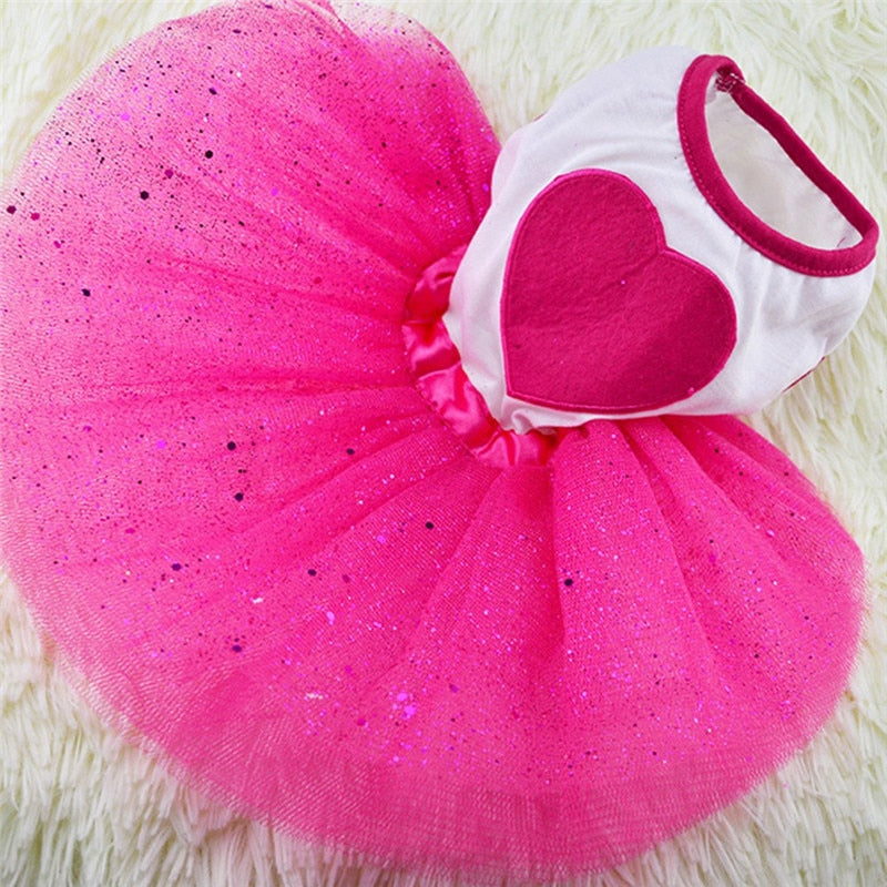 Pet Dog Tutu Dress Lace Dress Bubble Princess Skirt - honeylives