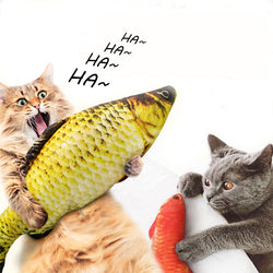Plush Creative 3D Fish-shaped Cat Pet Dog Toy Cat Toy Catnip Kitten Toy - honeylives