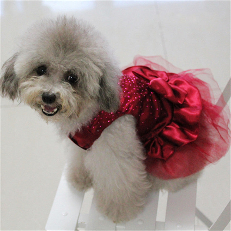 Princess Dog Dresses High-luminance Tutu Princess Dress Lace Skirt - honeylives