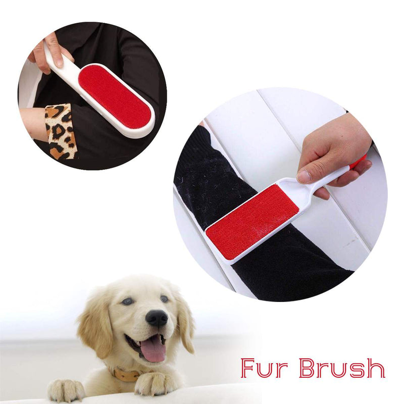 Reusable Self Cleaning Pet Hair Brush Set Double Lint Remover Fur Scrub Dust Brusher - honeylives