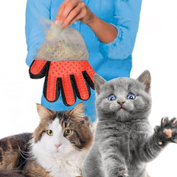 Pet Dog Cat Silicone Hair Remove Grooming Combs Brush Cleaning Gloves - honeylives
