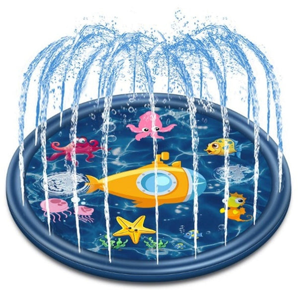 Kids Sprinkler Shark Sprinkler & Splash Plat Mat for Toddlers Outdoor Toy Splash Pad 68inch - honeylives