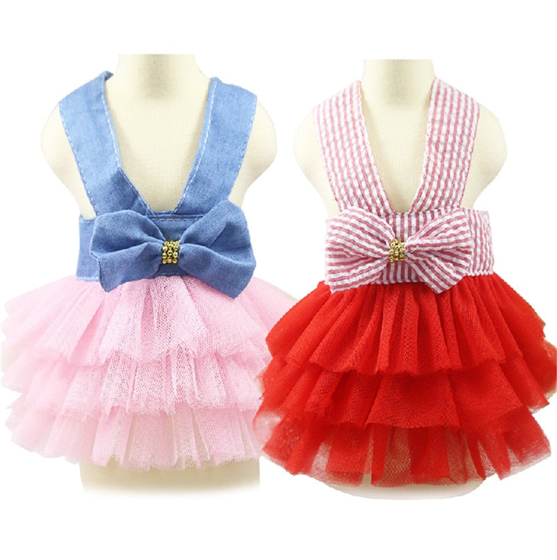 Dog Pet Clothes Summe Skirt Puppy Clothes XS-L - honeylives