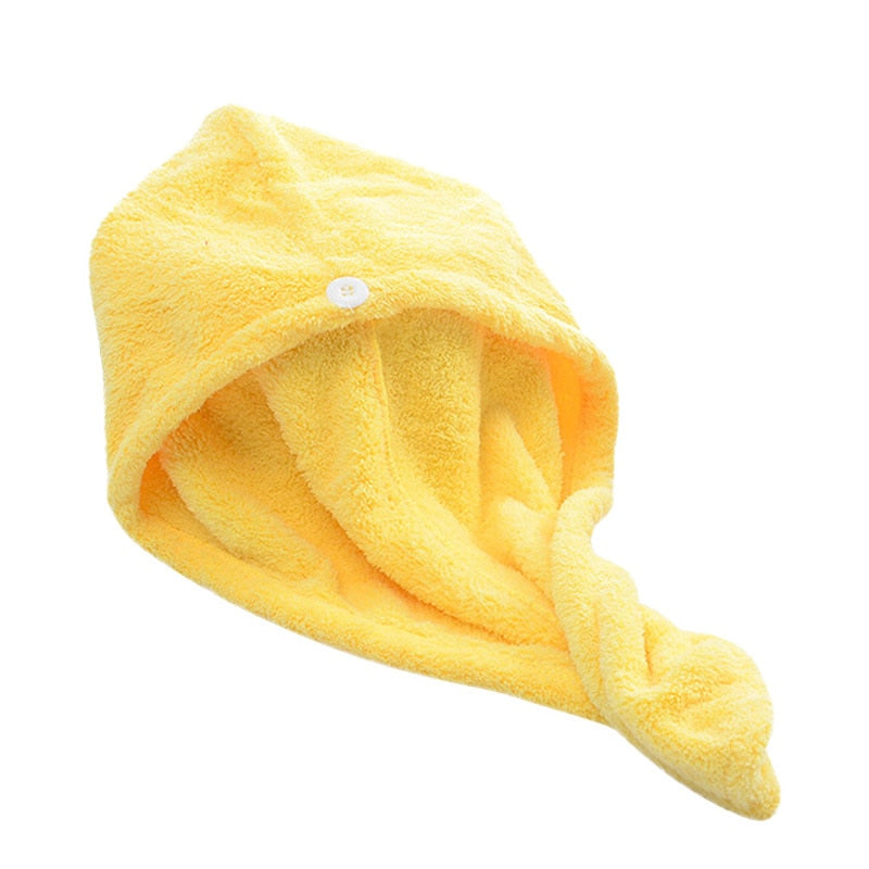 Women Bathroom Super Absorbent Quick-drying Bath Fabric Hair Towel Bath Dry Cap - honeylives