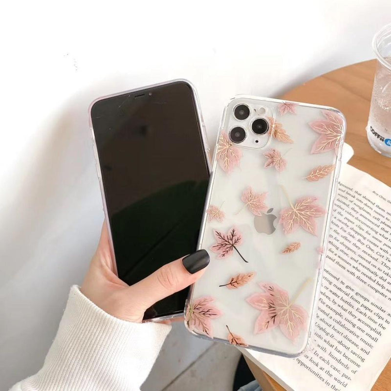 Electroplated Floral Case