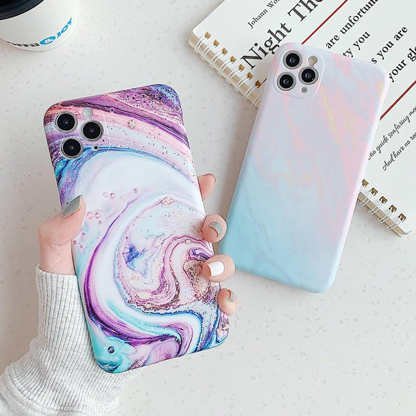 Purple Ombre Marble Case