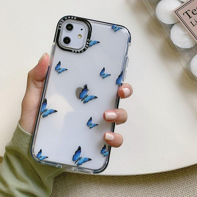Shockproof Blue Butterfly Case