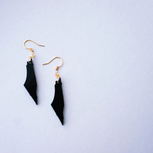 Black Palestine Map Earrings