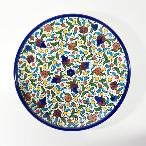 Hand-Painted Khalili Ceramic Large Plate